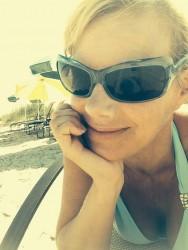 Gretchen Carlson at the Beach - 7/2/14