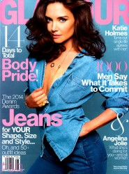 Katie Holmes in Glamour Magazine - August 2014