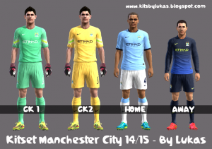 Download KitSet Pes 2013 Manchester City 2014-15 By Lukas