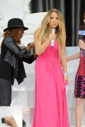 Mariah Carey leggy while performing on ABC's 'Good Morning America' 5/24/13