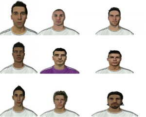 FIFA14 Face Pack Real Madrid By Mohamad