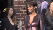 Halle Berry outside Letterman Show 2014