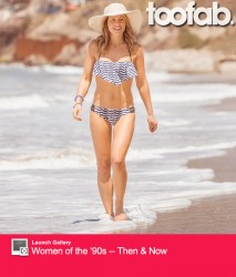 Candace Cameron Wearing a Bikini at a Beach in California - July 2014