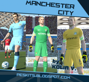 Download PES 2014 Manchester City 14/15 Kits by Kolia V.