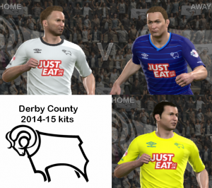 Download PES 2014 Derby County 14-15 kits by Attila74