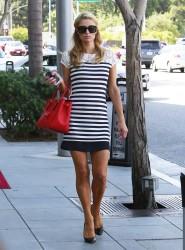 Paris Hilton - Leaving a skin care salon in Beverly Hills 7/18/14
