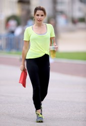 Sophia Bush Exercising in Santa Monica - July 11, 2014