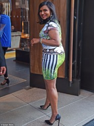 Mindy Kaling nice ass in figure hugging dress at Google's Made With Code event 6/20/14