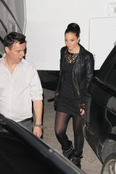 Tulisa Contostavlos upskirt in pantyhose while leaving the Fountain Studios in London 10/30/13