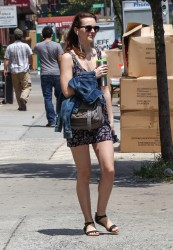 Leighton Meester out in NYC 07-23-2014