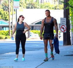 Kelly Brook Leaving a Gym in Studio City on July 24, 2014