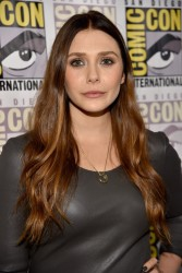 Elizabeth Olsen Avengers Age of Ultron Press Line & Panel at Comic-Con in San Diego 07-26-2014