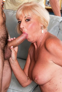 65yo Granny Scarlet Takes A Big Young Cock Cover