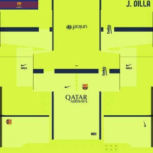 Download PES 2014 FC Barcelona 14/15 Third Kit by J Dilla