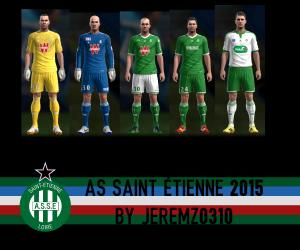 Download PES 2013 AS Saint Etienne 2015 Kits by JEREMZ0310