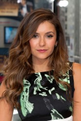 Nina Dobrev on the set of Extra in NYC 08-04-2014 [ADDS]