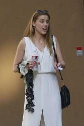 Amber Heard out in LA 08-01-2014