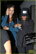 Rihanna & Adriana Lima - Leaving KOI restaurant in West Hollywood 8/5/14