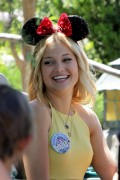 Olivia Holt Celebrates Her 17th Birthday at Disneyland in Anaheim 08/05/14