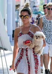 Ashley Tisdale out with her dog in Studio City 08-09-2014 (Not HQ)