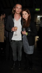 Bonnie Wright in pantyhose at the private screening of �Cherrybomb�at Beaufort House in London 4/19/10