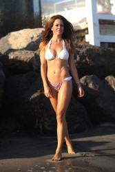 Brooke Burke Wearing a Bikini in Malibu - August 13, 2014