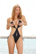 Maitland Ward - Swimsuit on the beach in Malibu 08/13/14