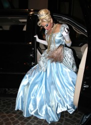 Gwen Stefani as Cinderella at Kate Hudson Halloween party 10/31/11 (8 new adds)
