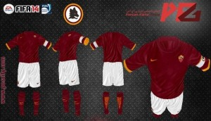 AS Roma 2015 Home Kit FIFA14 by amir27 & amir.sa
