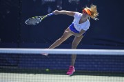 Eugenie Bouchard @ Practice at the US Open, Arthur Ashe stadium in New York - August 25-2014 x2