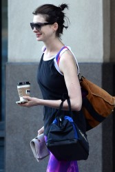 Anne Hathaway Out & About In Brooklyn 08-28-2014