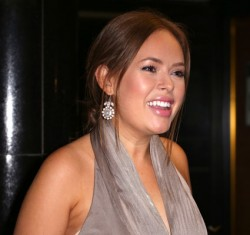 Tanya Burr slightly wet in a elegant dress at the Dallas Buyers Club London premiere 1/29/14 (2 adds)