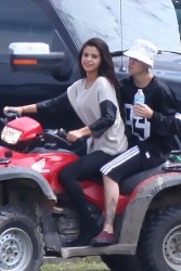 Selena Gomez ATV Riding in Canada - 8/29/14