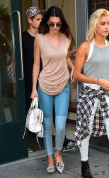 Kendall Jenner & Hailey Baldwin - Leaving an apartment in NYC 9/2/14