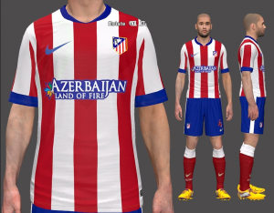 Download Atlético Madrid Home Kit by Cloner For PES 2014