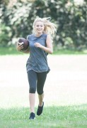 Olivia Holt Playing Touch Football in the park in Sherman Oaks 09/09/14