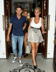 Sam Faiers and Billie Faiers leaving from 'The Only Way Is Essex' wrap party (with a upskirt from Sam) 8/22/12