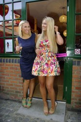 Sam Faiers and Billie Faiers at the opening of Minnie's Boutique in Brentwood 4/25/11