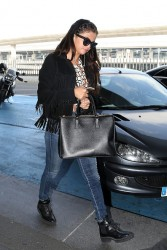 Selena Gomez - Charles de Gaulle Airport in Paris 10/1/14