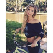 Allie Deberry - Nice Belly Instagram Pic 10/04/14