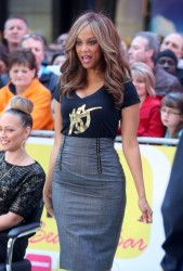 Tyra Banks - On the set of 'Good Morning America' in NYC 10/6/14