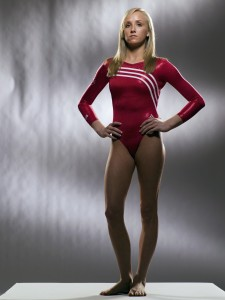 Nastia Liukin photoshoot, wearing red leotard (1x UUUHQ)