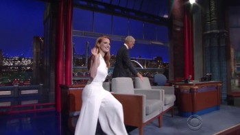 JESSICA CHASTAIN - The Late show 10.17.14