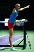 Petra Kvitova practices WTA Finals in Singapore on October 17-2014 x6