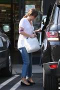 Lea Michele - Leaving Earth Bar - 10/21/2014