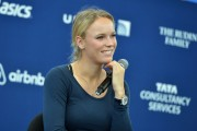 Caroline Wozniacki - picks up her New York City Marathon official race bib - October 29-2014 x7