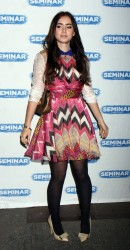 Lily Collins leggy in pantyhose at the opening night of 'Seminar' at The Golden Theatre in NYC 11/20/11
