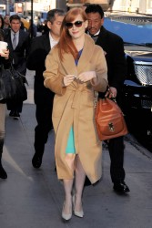 Jessica Chastain on 'Good Morning America' 11/3/14