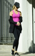Stacy Keibler - Out for a walk in Hollywood 11/04/14