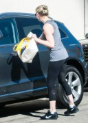 Kirsten Dunst - booty in tights while out in Studio City November 04-2014 x8